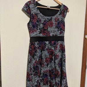 ModCloth Floral Print A-line Dress